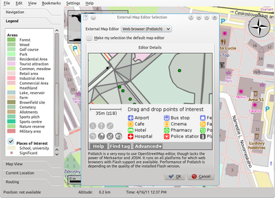 External OpenStreetMap editor selection